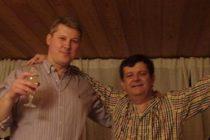 Cristian Sima si Catalin Predoiu, foto de la Revelionul 2011 din Elvetia