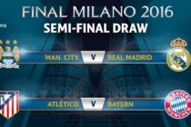 SEMIFINALE LIGA CAMPIONILOR: Manchaster – Real Madrid, Atletico Madrid – Bayern Munchen