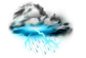 ANM: Se intorc furtunile, pana marti seara vor fi ploi cu caracter torential si descarcari electrice
