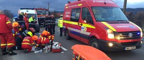 Acident de microbuz in Salaj, 13 victime. Accidentul s-a produs pe DN1H Zalau - Simleu Silvaniei, spre Hereclean