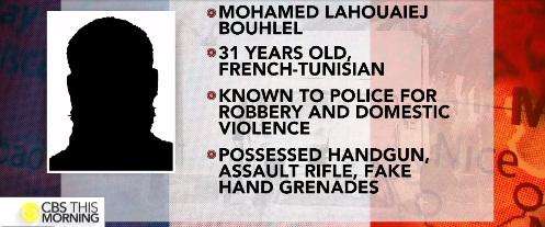 Mohamed Lahouaiej Bouhlel este numele teroristului de la Nisa. Autorul atentatului de la Nisa a fost identificat de autoritati cu numele Mohamed Lahouaiej Bouhlel este un barbat francez de origine tunisiana, in varsta de 31 de ani. Atacul sangeros de la Nisa s-a soldat cu moartea a cel putin 84 de persoane si ranirea altor 100, printre care si doi romani.