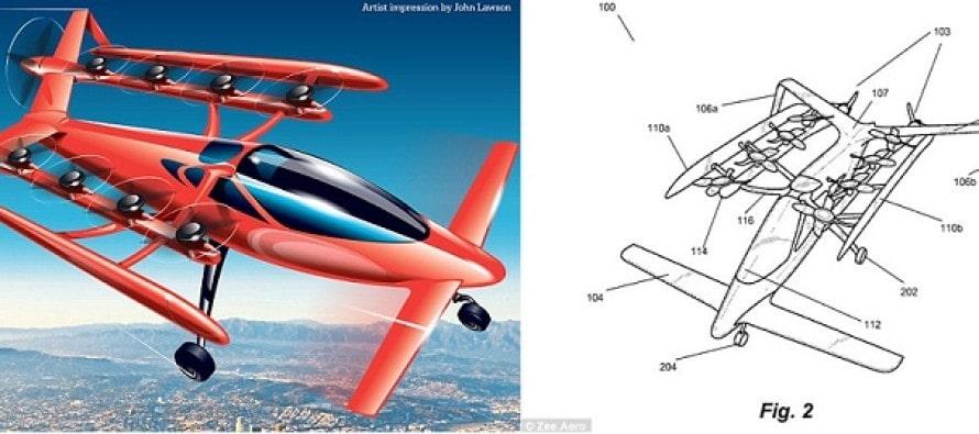 S-a aflat secretul fondatorului Google! Primele imagini cu masina zburatoare, care poate decola si ateriza pe verticala