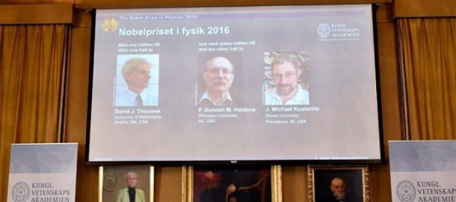 NOBEL 2016. Trei oameni de stiinta britanici au obtinut premiul Nobel pentru Fizica pentru descoperiri in materia cuantica
