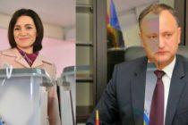 REZULTATE ALEGERI MOLDOVA: Igor Dodon – 48,2%, Maia Sandu – 38,4%. Turul doi al alegerilor, pe 13 noiembrie