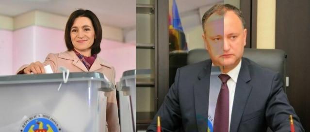 REZULTATE ALEGERI MOLDOVA: Igor Dodon - 48,7%, Maia Sandu - 37,9%. Turul doi al alegerilor, pe 13 noiembrie
