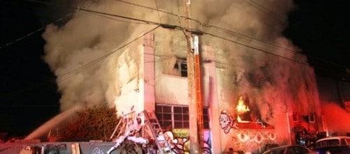 Incendiu intr-un club din California, asemanator cu cel din Colectiv. 40 de oameni au murit carbonizati