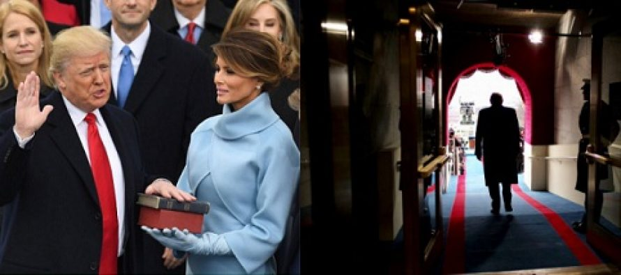 Donald Trump a depus juramantul de investitura cu mana stanga pe doua Biblii. Ziua, marcata de proteste anti-Trump