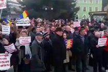 Protest pro Guvern in Caransebes, orasul natal al premierului Grindeanu