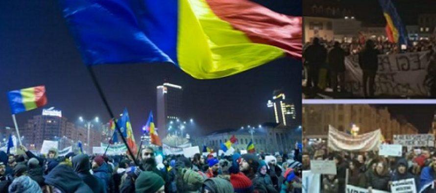 """Protest la Guvern cu mii de oameni, se striga """"Abrogati si-apoi plecati"""". Incidente in Piata Victoriei"""