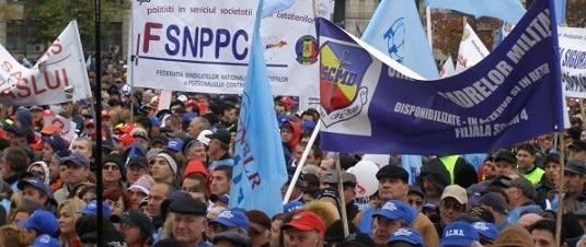 Politistii protesteaza de Ziua Politiei Romane. Miting la MAI, urmat de un mars pana in Piata Victoriei