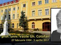 Vasile Gh. Cotofan, profesor la Universitatea de Stiinte Agricole din Iasi, s-a stins din viata