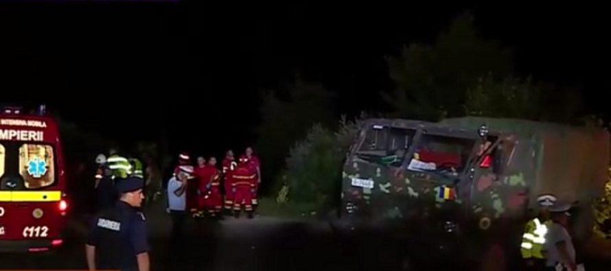 Accident la Dambovicioara – Arges cu un camion MApN. Trei militari au murit, alti 9 au fost raniti