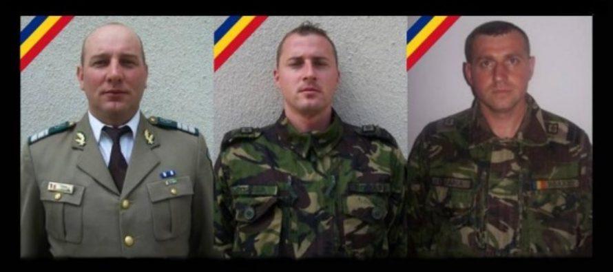 Mihai Ionut Toma, George Emilian Catana si Petre Cristian Toader sunt militarii morti in accidentul din Arges