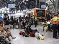 Accident feroviar la Barcelona, un roman se numara printre zecile de raniti