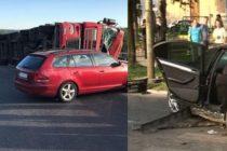 Accident rutier cu trupa DJ Project pe DN7 in judetul Valcea. Cei trei membri au ajuns la spital