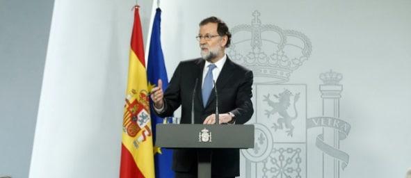 Premierul Spaniei a dizolvat Parlamentul din Catalonia si anunta alegeri anticipate pe 21 decembrie...