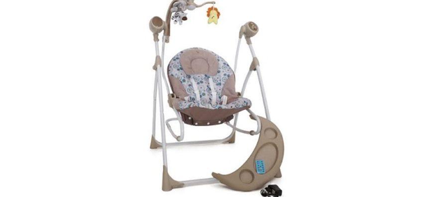 Tehnologia ii ajuta pe parinti: Balansoarul electric pentru bebelusi Cangaroo Swing poate fi controlat de la distanta