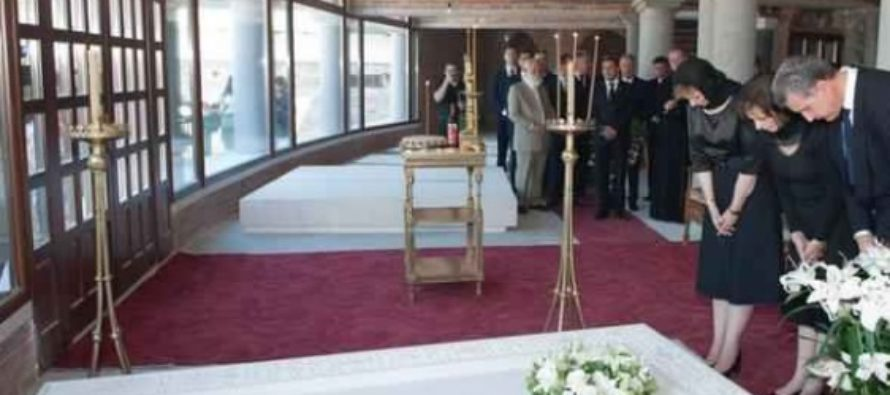 Pregatiri pentru inmormantarea Regelui Mihai la Catedrala din Curtea de Arges