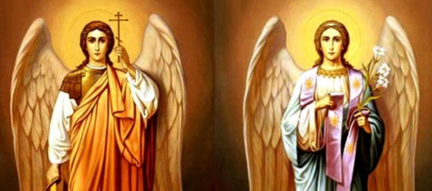 Sfintii Arhangheli Mihail si Gavril, pazitorii oamenilor de la nastere pana la moarte, sunt cinstiti miercuri de crestini