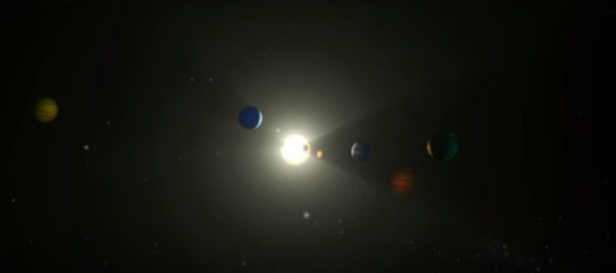 NASA a descoperit opt planete care orbiteaza in jurul aceleiasi stele in constelatia Dragonul