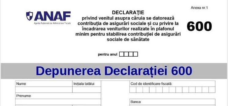 Declaratia 600 va fi unificata cu Declaratia 200