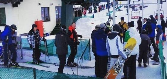 "Presedintele Iohannis a mers la schi in Muntii Sureanu, judetul Alba, zona supranumita si ""Elvetia Romaniei"""