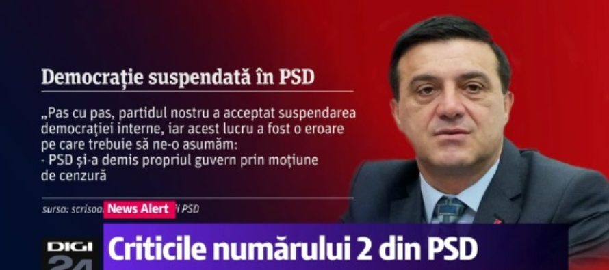 Nicolae Badalau le-a trimis o scrisoare membrilor PSD in care afirma ca democratia in partid a fost suspendata