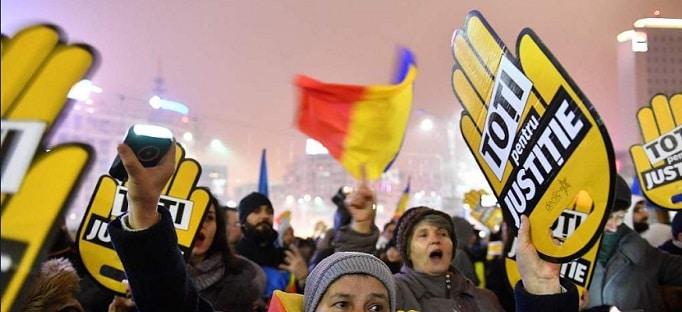 Protest in Bucuresti