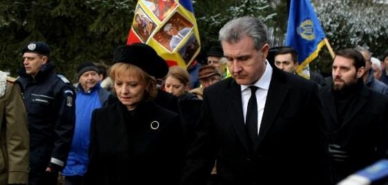 Slujba de pomenire la 40 de zile de la moartea Regelui Mihai. Principesa Margareta, principele Radu si fostul principe Nicolae, prezenti la parastas