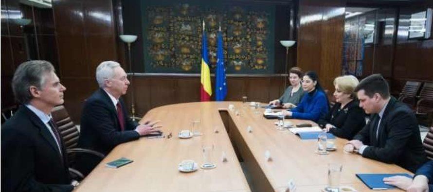 Premierul Dancila dupa intalnirea cu ambasadorul Hans Klemm: Am pus problema ca Romania sa devina producator de armament pentru intreaga zona