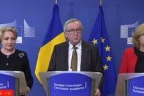 Jean-Claude Juncker, presedintele Comisiei Europene, considera ca Romania indeplineste conditiile pentru a adera la Spatiul Schengen