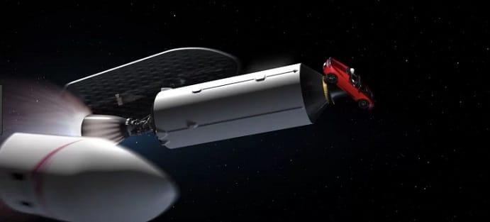 Masina Tesla lansata cu racheta Falcon Heavy a fost eliberata pe o traiectorie ce a depasit planeta Marte si se indreapta spre Centura de asteroizi dintre Marte si Jupiter