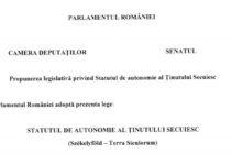 Un proiect care prevede infiintarea Tinutului Secuiesc, cu judetele Covasna, Harghita si o parte din Mures, a fost depus la Camera Deputatilor