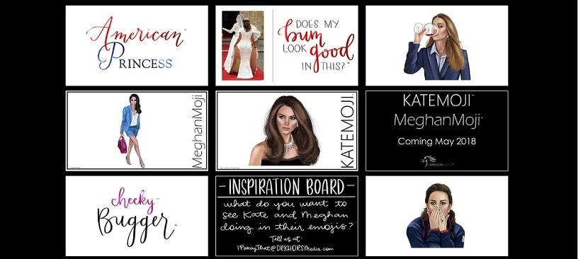Emoticoane cu Meghan Markle si Kate Middleton vor fi lansate in mai pentru fanii familiei regale din Marea Britanie