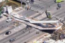 Miami, SUA: Un pod s-a prabusit peste o autostrada langa Universitatea Florida International