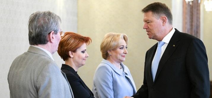 Presedintele Iohannis a discutat despre salarii si pensii cu premierul Dancila si cu ministrul Muncii