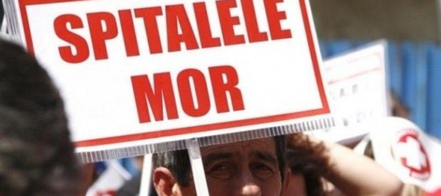 Proteste in Sanatate. Mii de oameni protesteaza la Guvern si la spitalele din Bucuresti si din tara