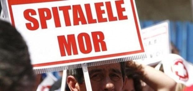 Proteste in Sanatate. Mii de oameni ies in strada la Guvern si in fata spitalelor din Bucuresti si din tara