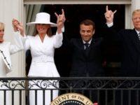 Cina de vis oferita de Donald si Melania Trump cuplului Emmanuel si Brigitte Macron in sala de cine de la parterul Casei Albe