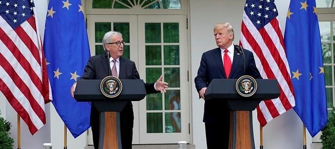 Donald Trump si Jean Claude Juncker semneaza un armistitiu comercial SUA - UE. Relatia dintre cele doua puteri a intrat intr-o noua faza