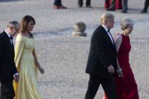 Președintele SUA Donald Trump a ajuns la Londra, in prima vizita oficiala in Marea Britanie de la castigarea alegerilor prezidentiale