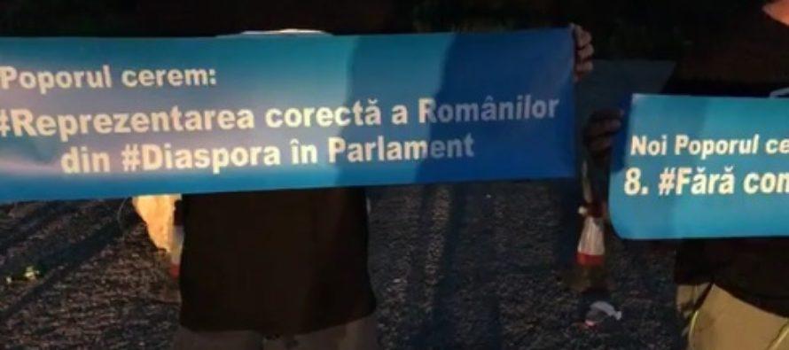 PROTEST DIAPORA. Prima coloana de masini se indreapta spre Cluj. Participant: Nu ascultati ce spun ca nu vine nimeni, sute de oameni suntem aici