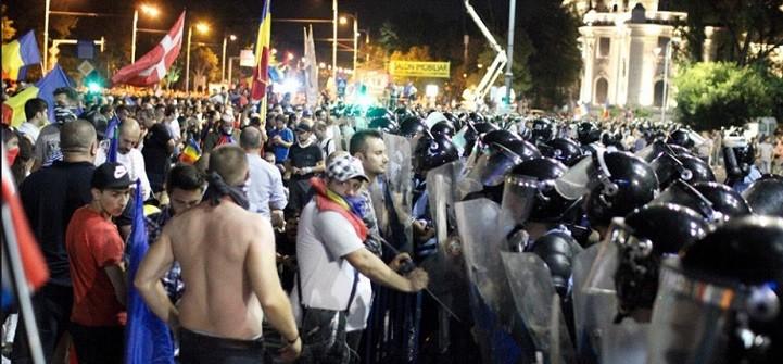 Studentii cer o ancheta urgenta a violentelor de la protestul din Piata Victoriei: Este inacceptabil ca fortele de ordine sa se indrepte cu o asemenea violenta impotriva propriilor cetateni