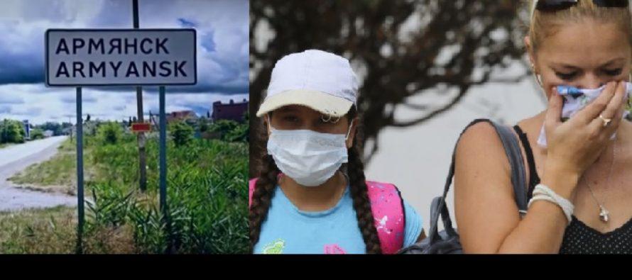 Posibila catastrofa ecologica in Crimeea, ascunsa de autoritati. Mii de persoane au fost evacuate, dupa ce s-au produs o serie de emisii la uzina chimica Kramski Titan