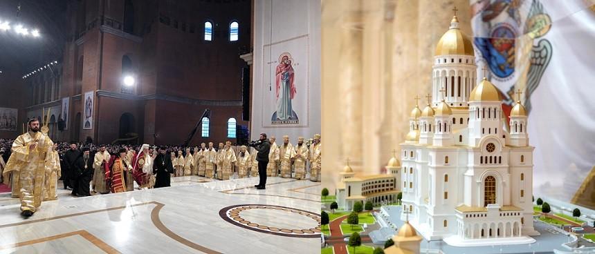 Catedrala Neamului a fost sfintita in prezenta a mii de oameni, credinciosii se vor putea inchina in Altar pana joi