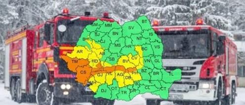 Ninsori abundente si viscol in Romania. Departamentul pentru Situatii de Urgenta este pregatit sa intervina in sprijinul populatiei si al autoritatilor locale