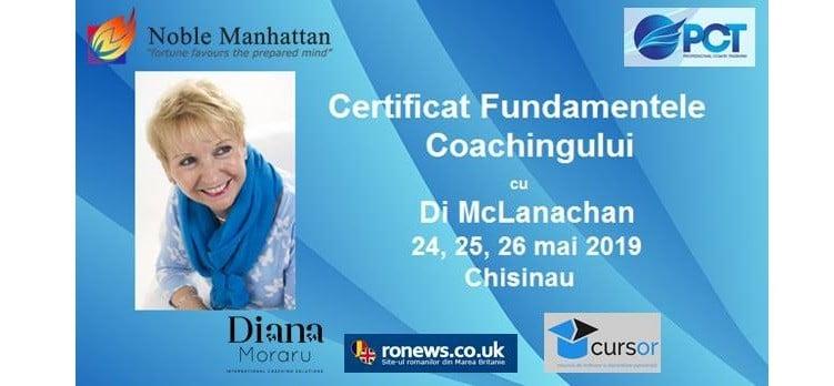 """""""Fundamentele Coachingului"""", cu trainerul international Di McLanachan"""