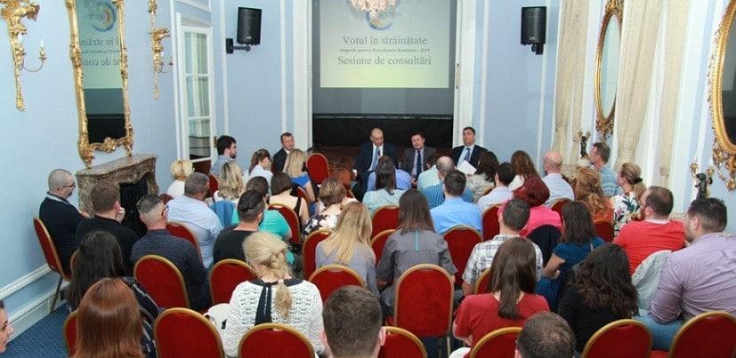 Votul din diaspora la alegerile prezidentiale, in dezbatere la Ambasada Romaniei din Marea Britanie