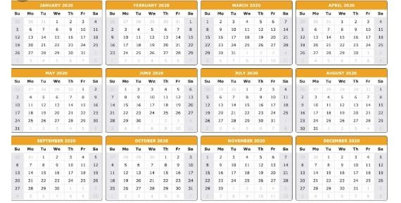 Calendar zile libere in 2020 - Vezi cand cade Pastele si Craciunul in 2020