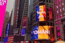 Steagul Romaniei a fost afisat in cea mai cunoscuta piata din lume, Times Square din New York